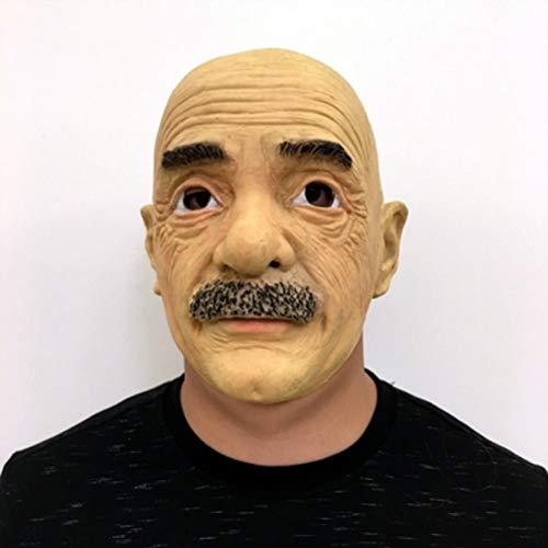 Weiblich Kostüm Teufel Makeup - FLTVSN Halloween-Maske Hitman Alter Mann Maske Latex weibliche echte Maske Masken Verkleidung Streich Halloween Make-up Kostüm Realistische Silikon-Dressing