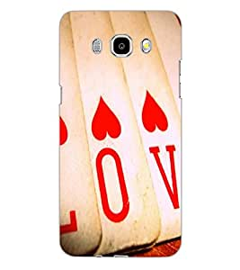 SAMSUNG GALAXY J5 2016 LOVE Back Cover by PRINTSWAG