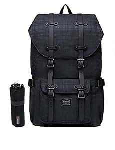 """Rucksack Damen Herren Studenten Backpack KAUKKO 17 Zoll Laptop Rucksack für 15"""" Notebook Lässiger Daypacks Schüler Backpacks Schultaschen of 2 Side Pockets für Wandern Reisen Camping (42black2)"""