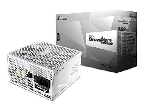 Seasonic Prime 650 Snow Silent Alimentatore di Rete per PC, Ventola da 13.5 cm, ATX 12V, Output 62A, Bianco