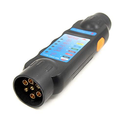 KKmoon Steckbuchse Tester 12 V 7 Pins Auto Lkw-anhänger Verdrahtung Schaltung Licht Test Werkzeug Auto Zubehör