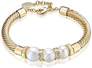 Mestige MSBR3203 Gold Lithe Freshwater Pearl Bracelet for Women