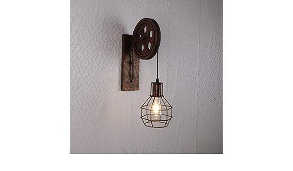 Applique da parete soggiorno camera da letto american carrucola