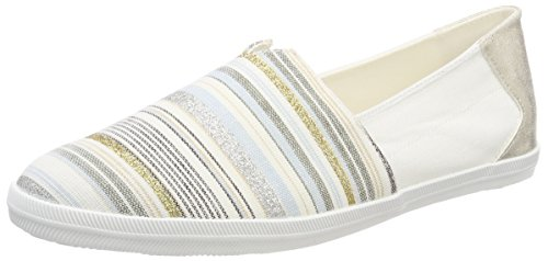 Tamaris Damen 24600 Espadrilles, Weiß (Offwhite Comb), 36 EU