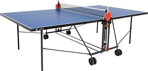 Hochwertige In- und Outdoor-Tischtennisplatte inkl. Netzgarnitur, Spielmaß L x B x H: 274 x 152,5 x 76 cm, 682132
