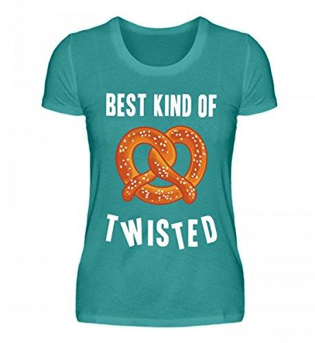 Hochwertiges Damen Organic Shirt - Best kind of twisted Atollblau