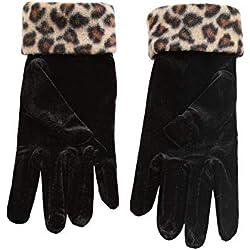Guantes Cálidos De Invierno Para Mujer Leopardo One Size