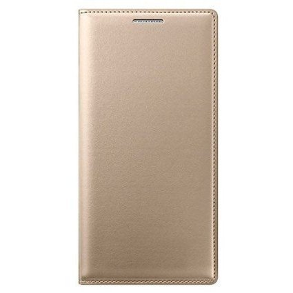 Dashmesh Shopping Durable Leather Flip Cover for Samsung Galaxy A8 (Gold)