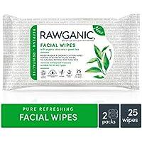 Rawganic Toallitas faciales refrescantes