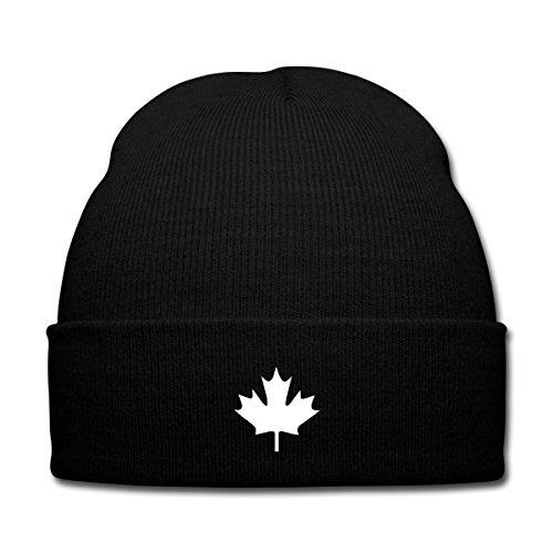Spreadshirt Kanada Canada Wintermütze, Schwarz