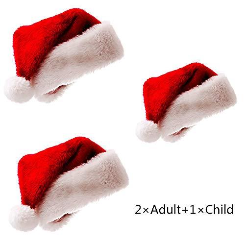 Meiwash Weihnachtsmütze Nikolausmütze Luxus Plüsch Hut Kind Erwachsene -
