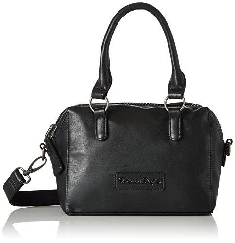 Fritzi aus Preussen Damen Mireya Business Tasche, Schwarz (Black), 12x20x30 cm (Leder Kleine Tasche Bowling)