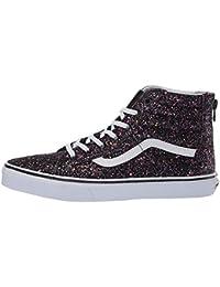 44750c8aca5 Vans Kids SK8-HI Zip Glitter Stars Schuh 2019 Black True White