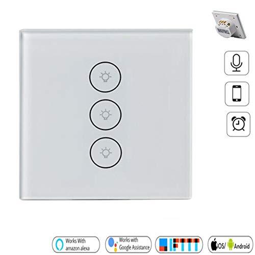 Interruptor de luz inteligente, interruptores de control remoto WiFi Touch Funciona con...