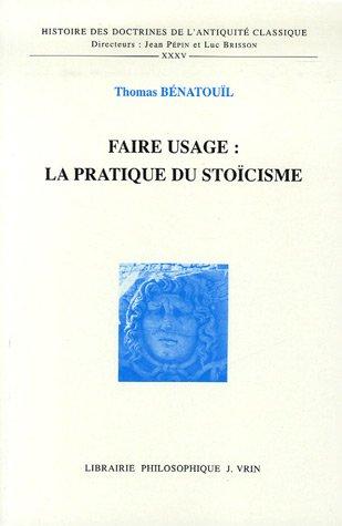 Faire usage : la pratique du stocisme