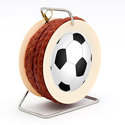 Fußball Wurst Kabeltrommel WM 2018-3,5 Meter Wurst Snack nach Krakauer Art auf einer Mini Kabel-Trommel - 240 g