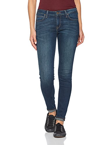 Lee Damen Skinny Jeans Scarlett, Blau (Mean Streaks Kims), W28/L35