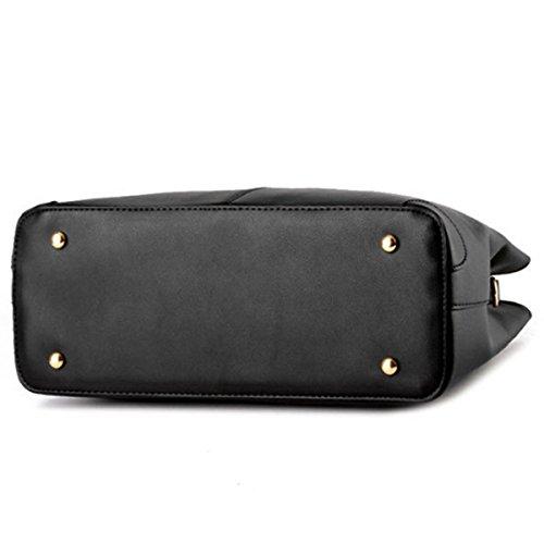 Sacchetti di Hobo del messaggero delle donne della spalla della borsa Borse di modo del cuoio della borsa di Tote nuove Nero