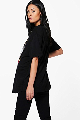 Noir Femmes Isabelle T-shirt De Groupe Ras Du Cou De Grossesse Imprimé Noir