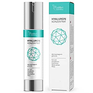 Hyaluronsäure Konzentrat Gel - hochdosiertes Hyaluron Anti-Aging Serum - 50 ml von colibri cosmetics / Naturkosmetik made in Germany