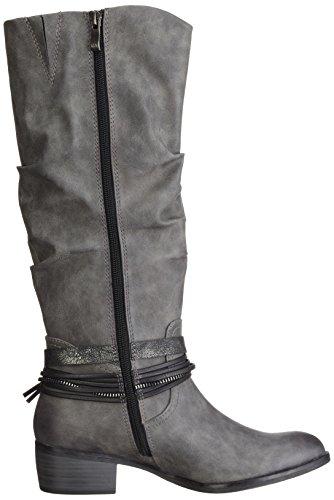 Marco Tozzi 25531, Stivali alti con imbottitura leggera Donna Grigio (Grey Antic Com 202)