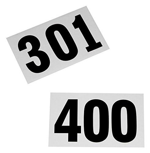 Boje Sport 100 Startnummern für Sportveranstaltungen, Nummern 301-400