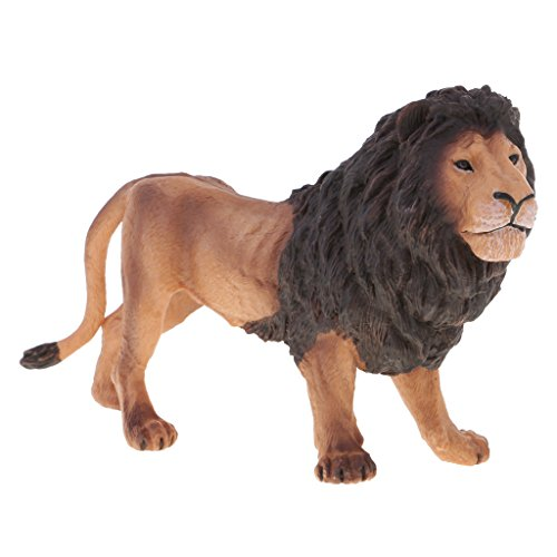 C2K Simulation Wildlife Animals Lion Model Action Figures Kids Toy Collectibles Home Decor Yellow