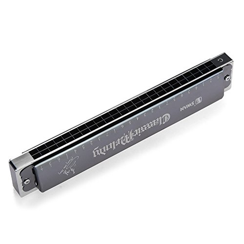 Zimo® Professionals SWAN 24 Löcher Tremolo gestimmten Mundharmonika C-Dur in Box