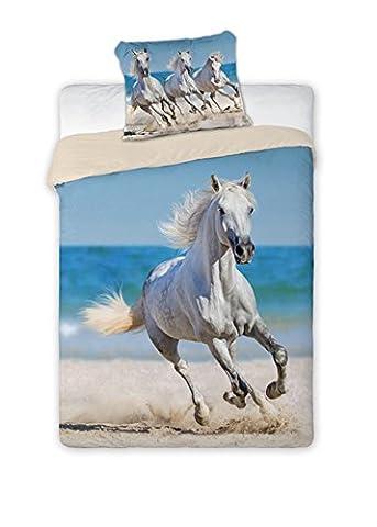 Cheval Horse Parure de lit enfant Housse de couette 140x 200cm