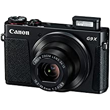 "Canon PowerShot G9 X - Cámara de bolsillo de 20.2 Mp (pantalla de 3"", zoom óptico 3x, estabilizador digital, vídeo Full HD), color negro"