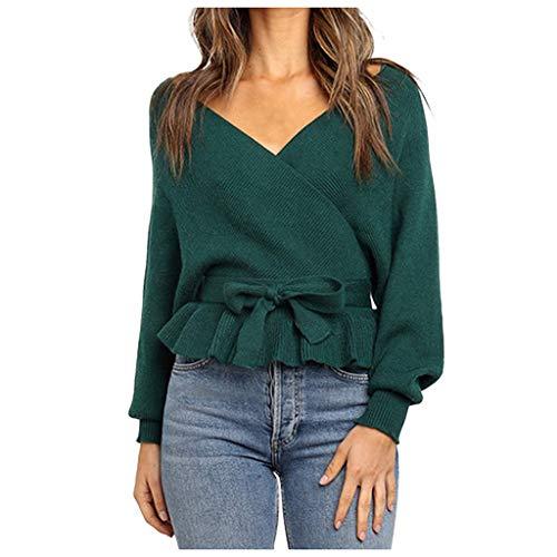 Zottom Herbst und Winter Frauen v-Ausschnitt Frauen Pullover Langarm Tops Bluse Pullover