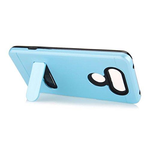 """iPhone 7 Hülle,Lantier Brushed Metal Texture Design Slim Fit Dual Layer Schroff Schlagfest Beschützer Cover mit Kickstand für iPhone 7 4.7"""" Silber Brushed Texture Grey"""