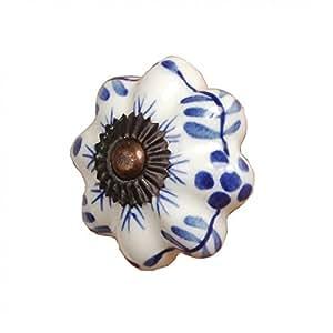 Poignée Bleu Et Blanc 3,5cm