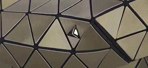 FZHLY Nuovo Laser Geometrica Lingge Borsa A Tracolla Giappone E Sud Corea Versione Di Ms Tempo Libero Borsa Da Viaggio,Brown Blue