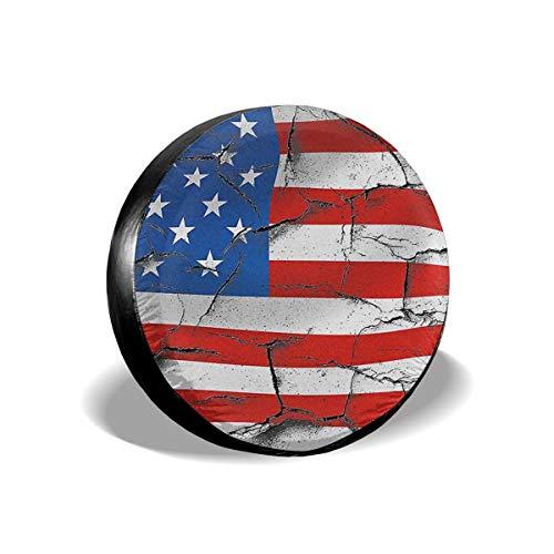 PecoStar, Copertura Universale per Ruota di scorta con Bandiera Americana, in Poliestere, per rimorchio Jeep, Camper, SUV, Camper, rimorchio, Accessori da Viaggio