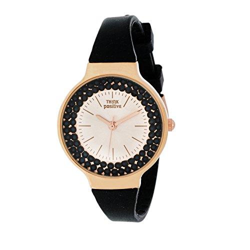 horloge-femme-think-positiver-modele-se-w262-rose-bracelet-en-silicone-couleur-noir