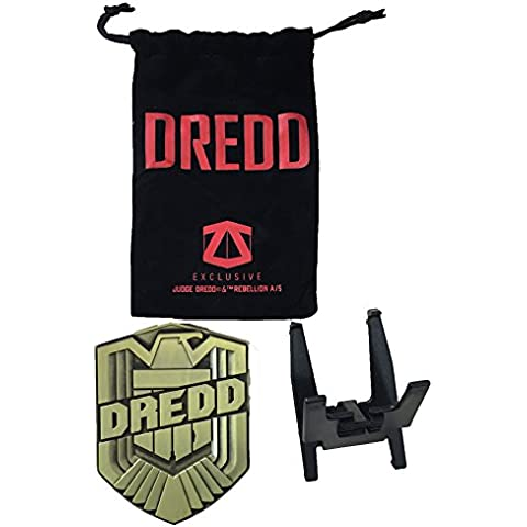 Dredd - Metal Movie Badge Prop Replica 2000 AD's by Planet Replicas