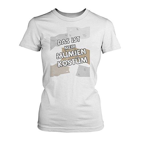 Für Pharao Kostüm Frauen (Das ist mein Mumien Kostüm - Damen T-Shirt von Fashionalarm | Spaß & Fun Shirt mit Spruch | Verkleidung Fasching Karneval Süßes Saures Horror Halloween Pharao Ägypten,)
