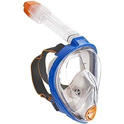 Ocean Reef - Aria Classic Masque de Plongée - Masque de Snorkeling Intégral avec Tuba - Bleu - Taille S/M