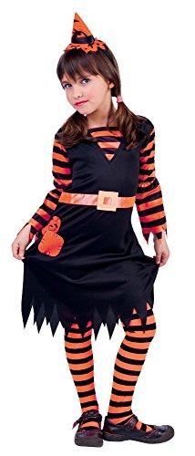 Kind Witchy Kostüm - Non Concerne Nicht auf-S8298l-Kostüm für Kinder, Mädchen Witchy Patch, Orange/schwarz, L