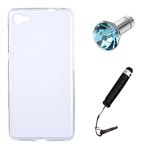 Lusee® Silikon TPU Hülle für Alcatel A5 LED 5.2 Zoll Schutzhülle Case Cover Protektiv Silicone halb transparent weiß
