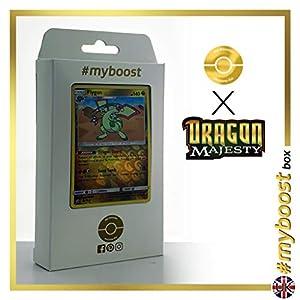 Flygon 39/70 Holo Reverse - #myboost X Sun & Moon 7.5 Dragon Majesty - Box de 10 cartas Pokémon Inglesas