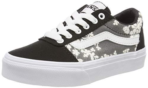 Vans Unisex-Kinder Ward Canvas Sneaker  ,Schwarz (Floral Mesh) Schwarz Vht) , 29 EU (Schuhe Vans-schwarz Kinder)