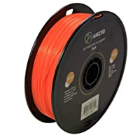 1.75mm Orange PLA 3D Printer Filament - 1kg Spool (2.2 lbs) - Dimensional Accuracy +/- 0.03mm