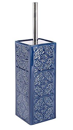 Wenko WC in ceramica Cordoba, Blu scuro, in ceramica, Ceramica, Blu, 9.5  x  9.5  x  35 cm