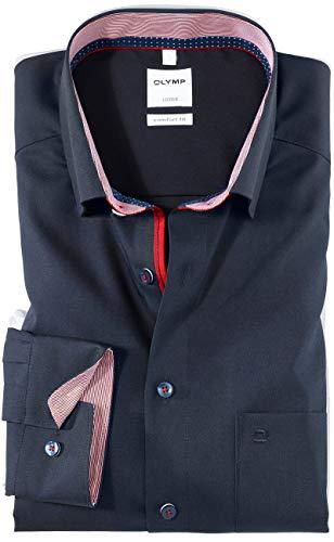 OLYMP Luxor Comfort fit Hemd Langarm Under Button Down Kragen blau Größe 43