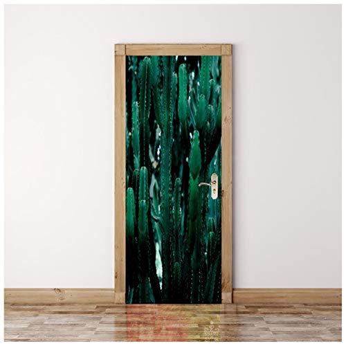 Blue Aloe Tür Tapete selbstklebend Türposter Fototapete Tür Filmposter Tapete Schlafzimmer Türaufkleber Toilettentüraufkleber 90 * 200cm -
