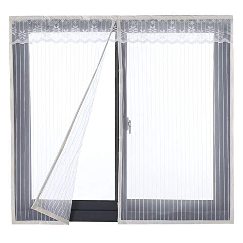 HTDG Insektenschutz Fenster Magnet Weiß,Klettband,Fliegengitter Gewebe Insektenschutzgewebe,Fiberglas,Aluminium,Stark,Fliegennetz Fenster Groß,Insektenschutz Ohne Bohren,100x150cm(39x59inch)