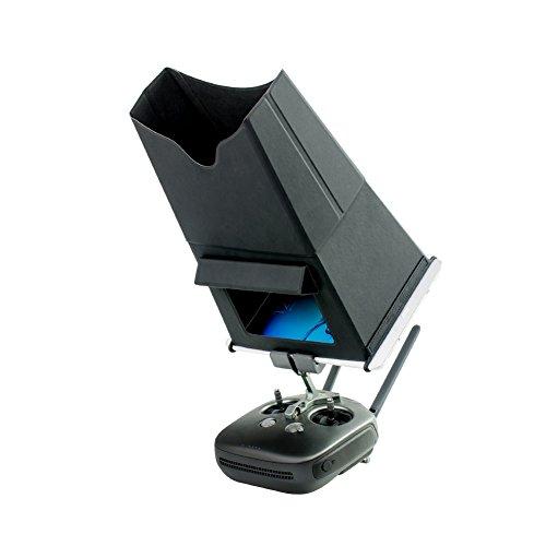 Ansemen Umgeben Sunshade Visier für DJI OSMO/ Mavic Pro/ Mavic Air/ Spark/ Inspire 1/ Phantom 3/4 Fernsteuerpult - 9,7 Zoll Detachable Voll Eintauchen iPad Sunshade Hauben Zubehörteil