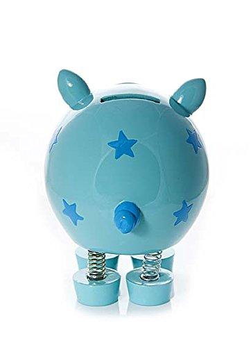 Tirelire bleu cochon pour enfants garcon et fille